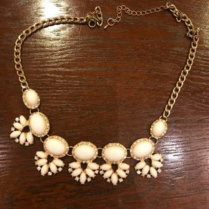 White bib necklace